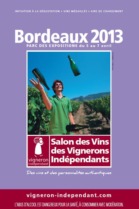 Salon des vins des vignerons indépendants au Parc des Expositions à Bordeaux