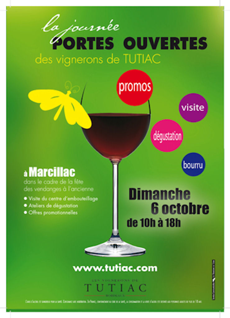 La journée portes ouvertes des Vignerons de Tutiac (de 10h à 18h)