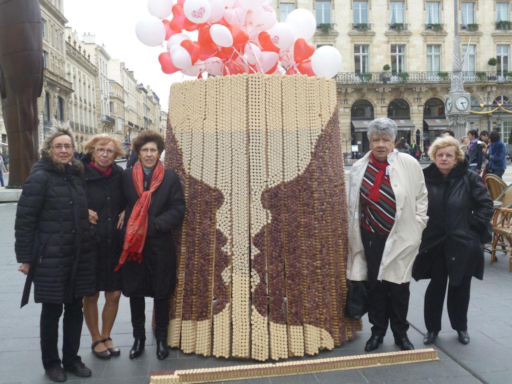 Barrique mosaïque pour la Saint-Valentin