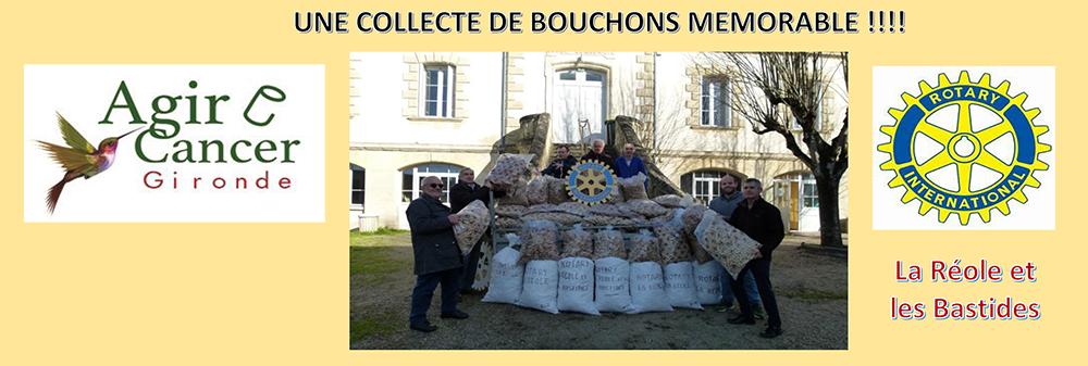 900 kg récoltés par me Rotary Club de la Réole et des Bastides