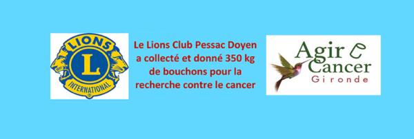 Lions Club Pessac Doyen : Un partenaire de poids pour Agir cancer Gironde à Pessac